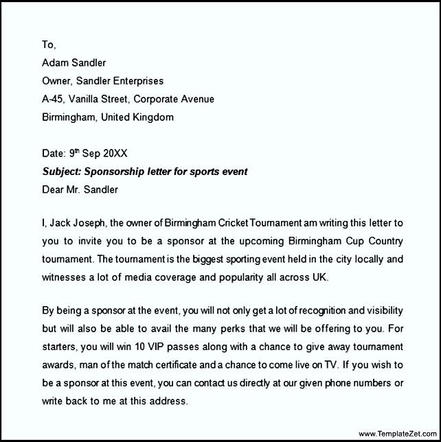 sales letters sample