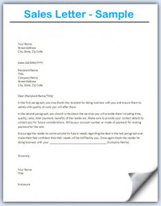 sales letters samples sales letter template image