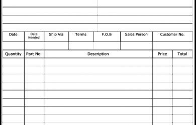 sales order form sales order form template