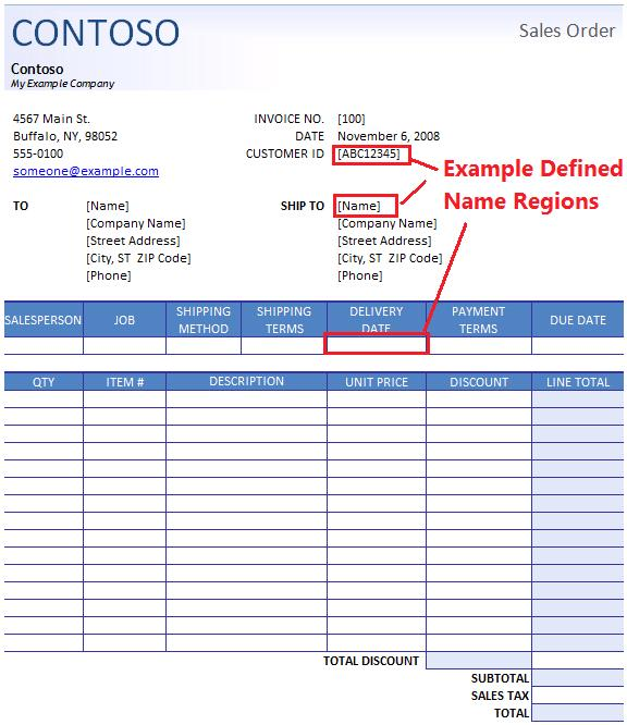 Sales Order Format  Template Business