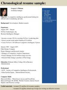 sales order format top workshop manager resume samples