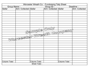 sales order forms wwcfundraisingtallysheet