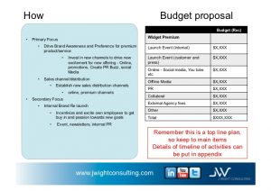 sales proposal example business plan example for widget company v november st j wightconsultingcom