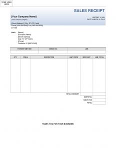 sales receipt template sales receipt template