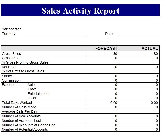 Sales Report Template  Template Business