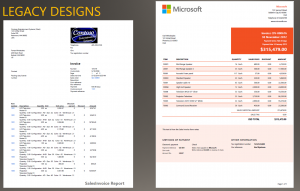 sales report templates design comparison