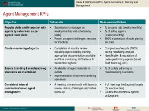 sales reports template kpis in mobile money a reference guide