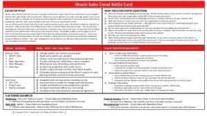 sales strategies template sales cloud battle card
