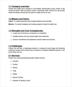 salon business plan spa health club business plan