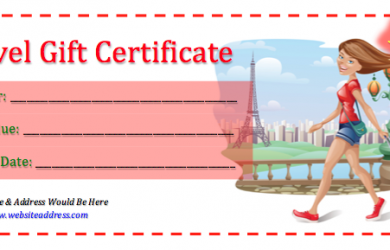 salon gift certificate template travel gift certificate template