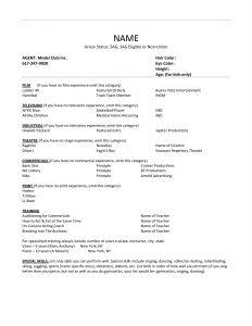 sample acting resume acting resume no experience template httpwwwresumecareer sample