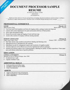 sample actors resume document processor resume sample