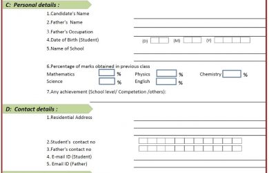 sample application for employment admission form