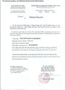 sample application for employment vietnamvisa approval letter copy