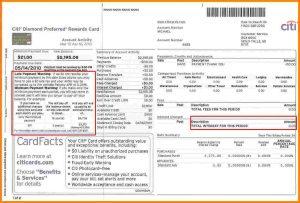 sample bank statement citi bank credit card statement citi cc statement