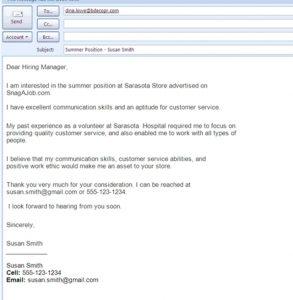 sample basic resignation letter job application letter via email sample job application email