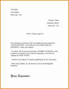 sample basic resignation letter simple resignation letter sample simple resignation letter