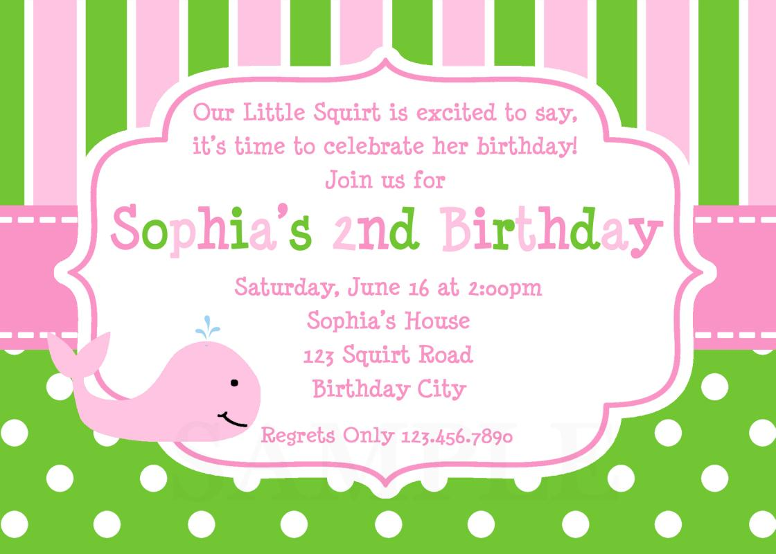 sample birthday invites