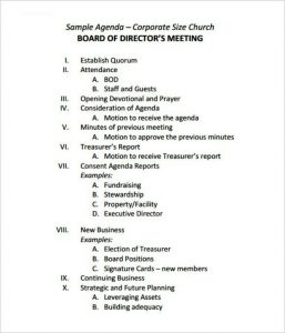 sample board meeting minutes easy corporate board meeting agenda template free download