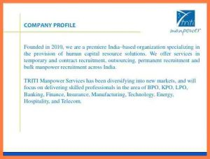 sample budget proposal recruitment agency company profile sample triti manpower proposal cb