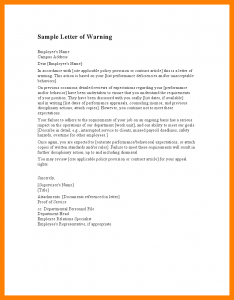 sample budget proposal staff warning letter