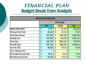 sample budgeting plan budget presentation