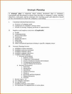 sample budgeting plan strategic plan outline