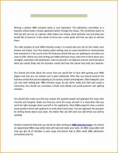 sample college application writing application letter n samplez excellent mba entrance essay cb