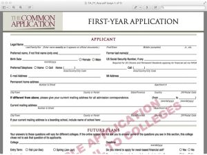 sample college applications common college application form sample
