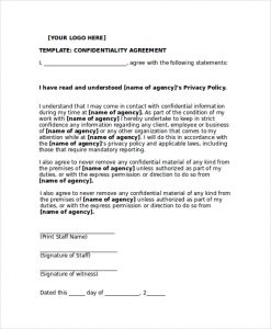 sample confidentiality agreement personal confidentiality agreement sample