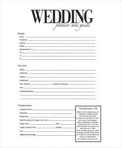 sample consultation agreement wedding event planner form