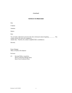 sample consulting proposal notice to proceed