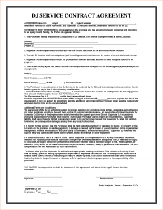 sample contract agreement service agreement contract template