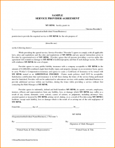 sample contract for services sample contract for service
