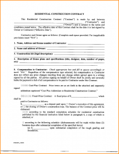 sample contractor agreement contract agreement form