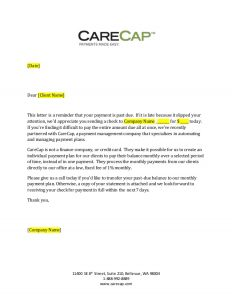 sample demand letter for payment of debt carecap day past due payment letter generic