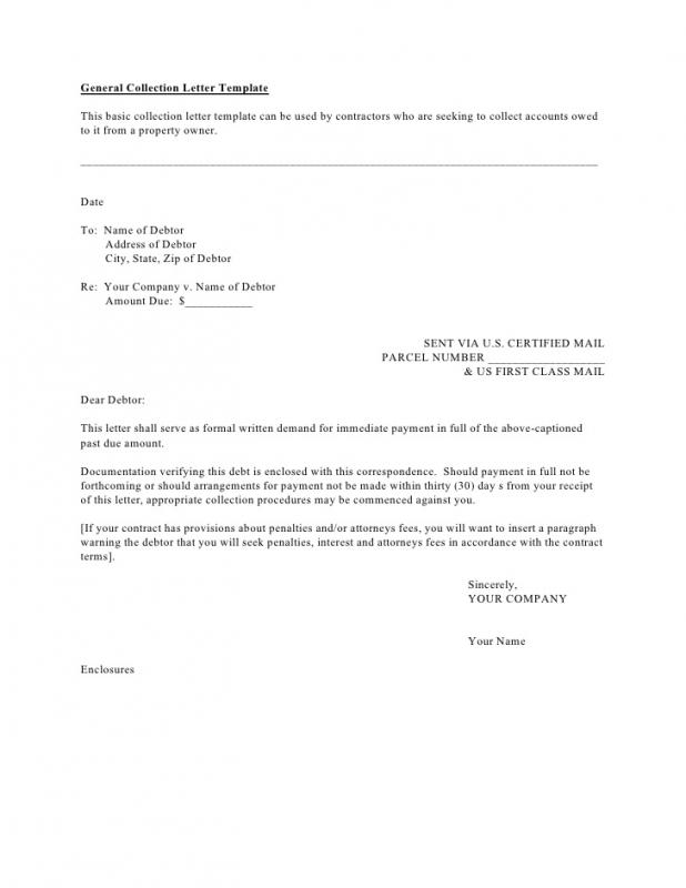 sample demand letter for payment of debt
