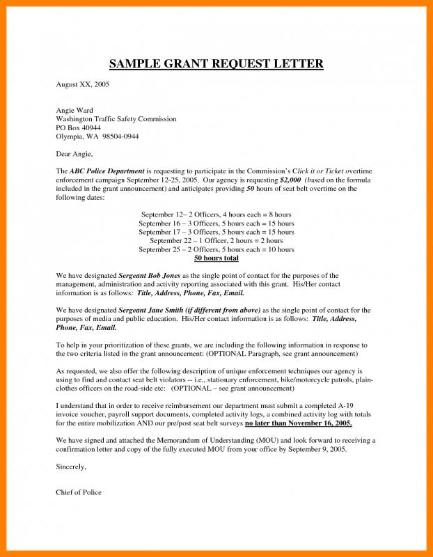 Sample doctor note template business for Application for funding letter template