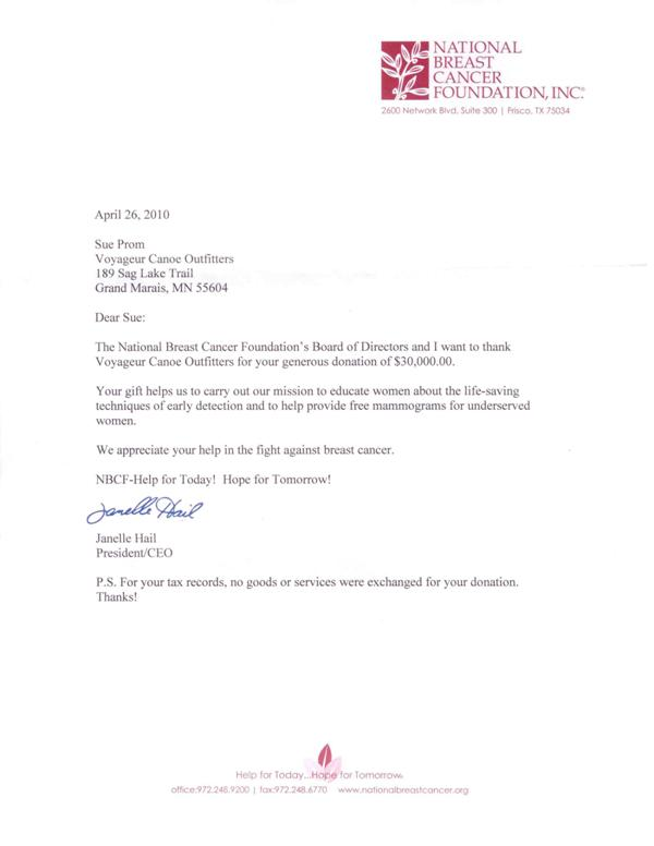 Sample Donation Letter  Template Business
