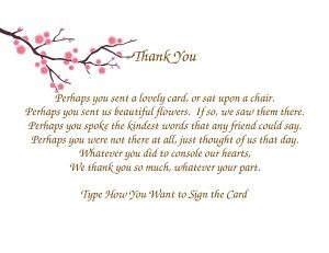 sample donation letter in memory of someone thank you notes for sympathy x