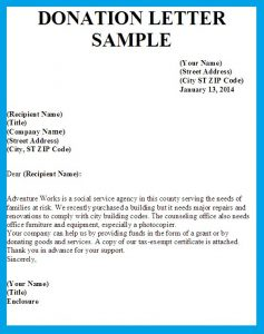 Sample donation letter template business sample donation letter letter asking for donations image thecheapjerseys Images