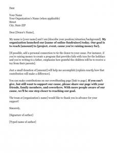 sample donation letter online donation fundraising letter