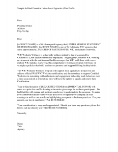 sample non profit donation letter