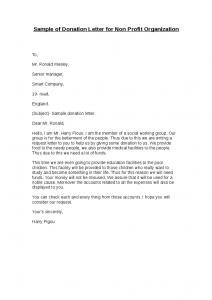 sample donation request letter for non profit sample of donation letter for non profit organization