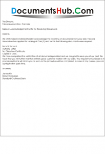 sample donation request letter to a company sample acknowledgement letter for receiving documents