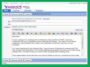 sample email after interview email thank you note after interview sample