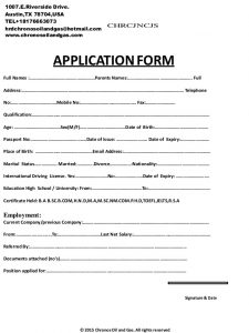 sample email for job application chronos application and interview form