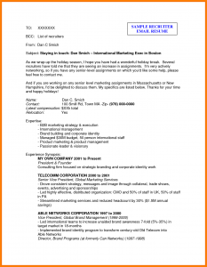 sample email to recruiter email a recruiter sample example email to recruiter