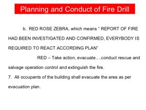 sample emergency action plan fire dril li in hospital