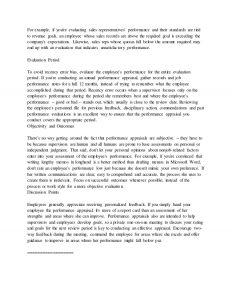 sample employee evaluation performance appraisal memo